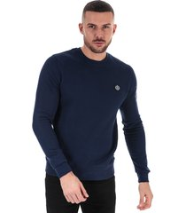 mens patch crew neck sweatshirt