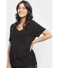 blusa liz 21062 amamentação pós parto bojo - feminino