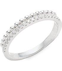14k white gold & diamond ring