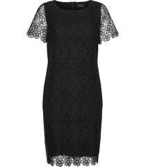 3177 - ellie jurk knielengte zwart sand