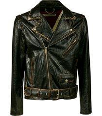 golden goose chiodo golden stud biker jacket