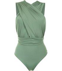 brigitte ruched talita swimsuit - green