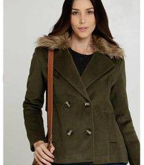 casaco marisa trench coat pelúcia feminino