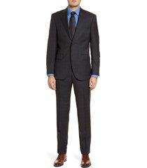 men's big & tall peter millar classic fit plaid wool suit