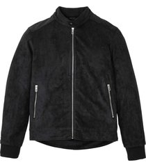 bomber in similpelle scamosciata (nero) - bpc selection