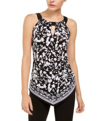 inc handkerchief-hem halter top, created for macy's