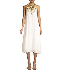 sabrina embellished halter cocktail dress