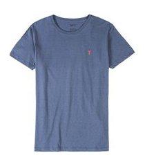 t-shirt básica comfort manga curta azul jeans az jns/gg