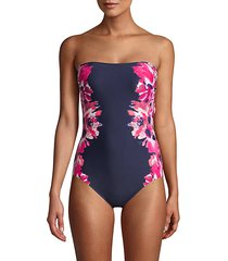 floral-print one-piece swimsuit