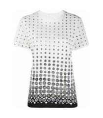 10 corso como camiseta com estampa de poás - branco