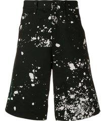 splatter bermuda shorts