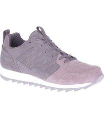 zapatilla alpine sneaker suede gris/rosa merrell