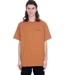 carhartt t-shirt in brown cotton