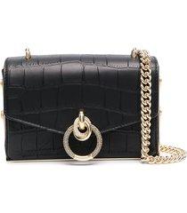 pinko square clutch bag - black