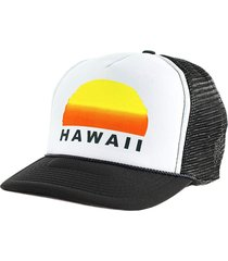 boné blanks co snap back sunset hawaii aba curva branco e preto