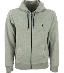 ralph lauren double-knitted full-zip hoodie