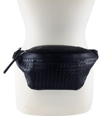 fashion focus basketweave fanny pack