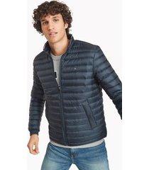 tommy hilfiger men's down packable puffer jacket navy - xxl