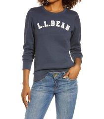 l.l.bean 1912 applique logo sweatshirt, size x-small in carbon navy collegiate logo at nordstrom