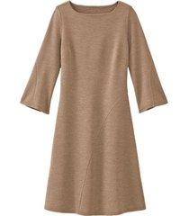 wollen jersey jurk met bio-merinowol, camel 36