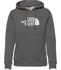 w drew peak pull hd hoodie trui grijs the north face