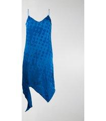 off-white jacquard-woven slip dress