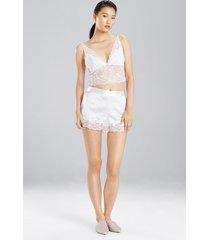 sleek silk bralette, women's, white, size l, josie natori