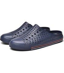 sandalias huecas al aire libre con suela suave para hombres mujeres ocio moda antideslizante