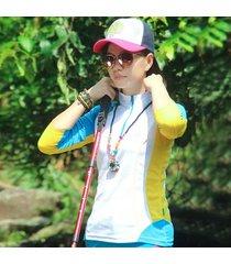 la camiseta de las mujeres al aire libre senderismo escalada