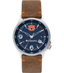 columbia men's canyon ridge auburn saddle leather watch 45mm