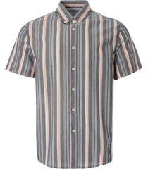 farah robertson stripe organic cotton short sleeve shirt   yale   f4wsb042-996