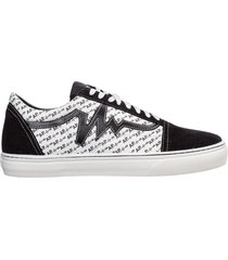 scarpe sneakers uomo in pelle monogram