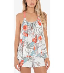 linea donatella tropical-print cami & shorts pajamas set