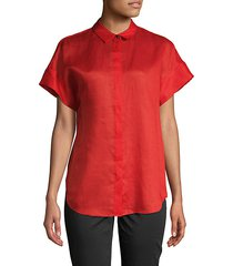 antonella short-sleeve button-down shirt