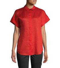 antonella short-sleeve button-down shirt