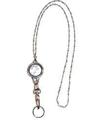 """floating locket 30mm lanyard, women's fashion badge holder 34"""" long,  magnetic b"""