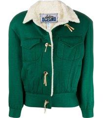 a.n.g.e.l.o. vintage cult 1980s cutaway collar jacket - green