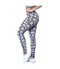 legging heide ribeiro estampada feminino adulto copacabana preto e branco