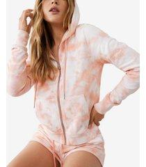 true religion women's cropped zip front logo hoodie