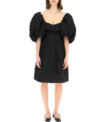 jacquard cloque mini dress