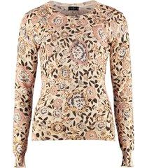 etro wool blend crew-neck pullover