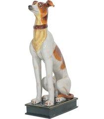 escultura de porcelana cachorro king