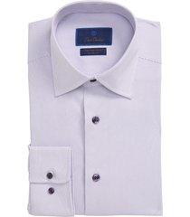 men's big & tall david donahue trim fit performance stretch geometric dress shirt, size 17 - 36/37 - white