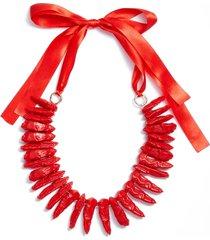women's knotty statement collar necklace