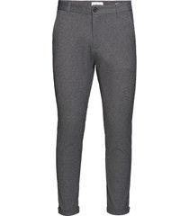 superflex knitted cropped pant kostuumbroek formele broek grijs lindbergh