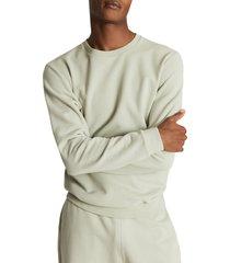 men's reiss slim fit cotton crewneck sweatshirt, size xx-large - green