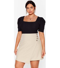 womens from now button plus wrap skirt - beige
