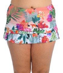 la blanca plus size tropicalia skirted bikini bottoms women's swimsuit