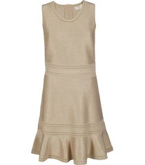 michael michael kors gold-tone viscose blend dress