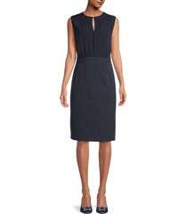 ted baker london women's stripe-print crewneck dress - dark blue - size 6 (14)